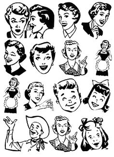 1950s style clipart image free 1950 Retro Cliparts - Cliparts Zone image free