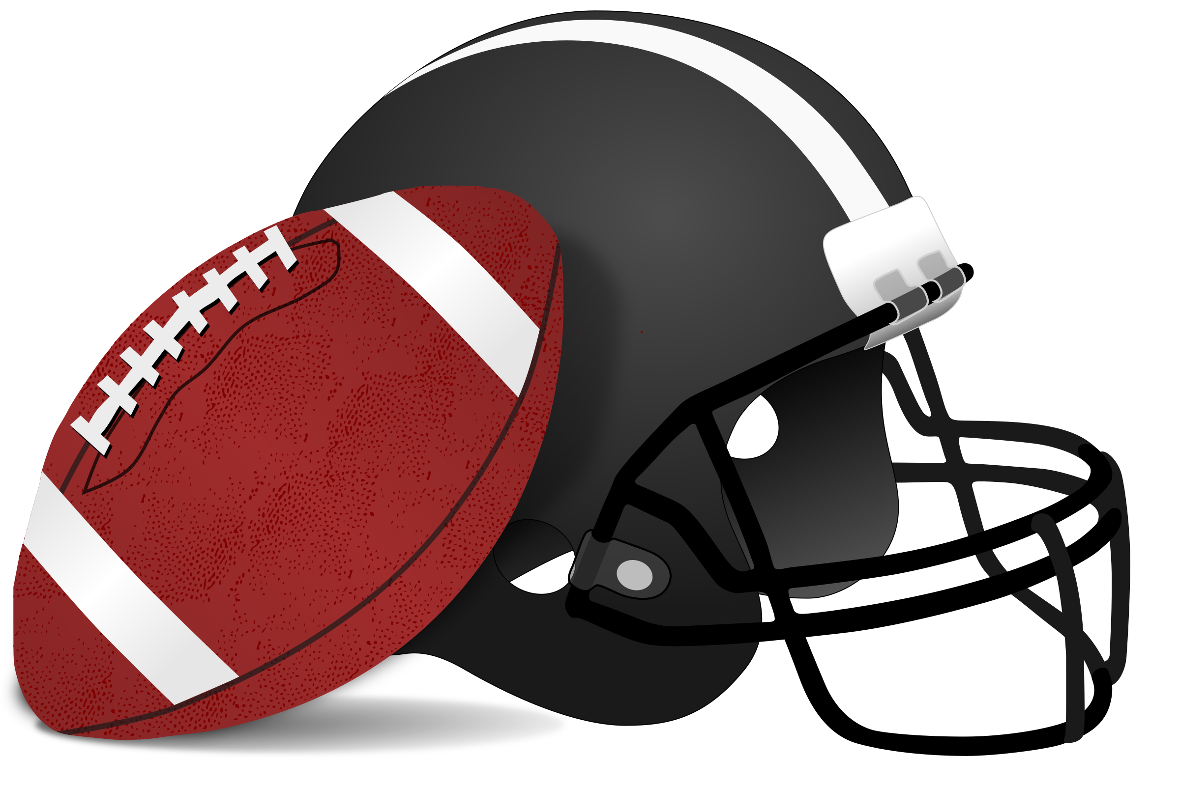 Football games clipart picture Clipart - American Football and Helmet picture