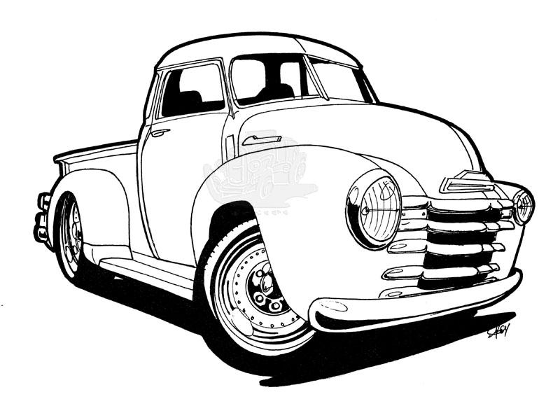 1954 chevy truck clipart graphic black and white Ford Pickup Truck Clipart | Free download best Ford Pickup Truck ... graphic black and white