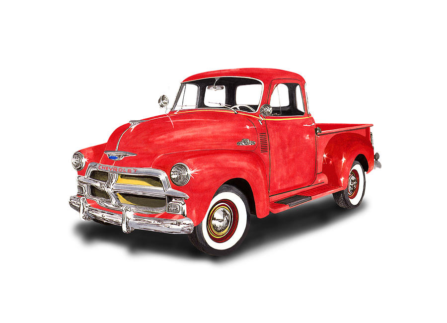 1955 chevy truck clipart image download 1955 Chevrolet 3100 Pick Up Truck Clipart - Car clipart ... image download