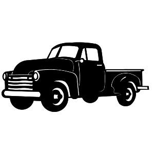 Old truck clipart vector black and white stock Free Chevy Truck Cliparts, Download Free Clip Art, Free Clip Art on ... vector black and white stock