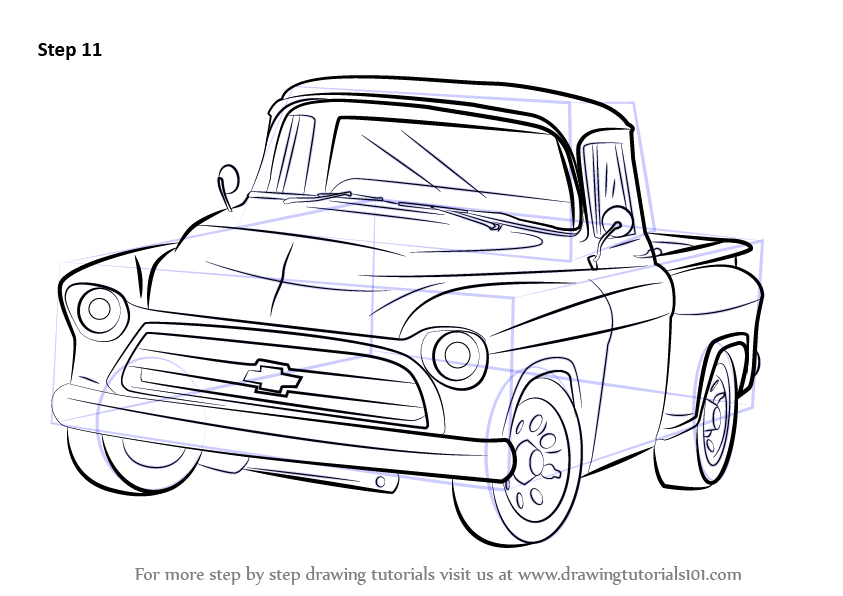 1955 chevy truck clipart png library download How to Draw a 1955 Chevy Truck - DrawingTutorials101.com | crafts ... png library download