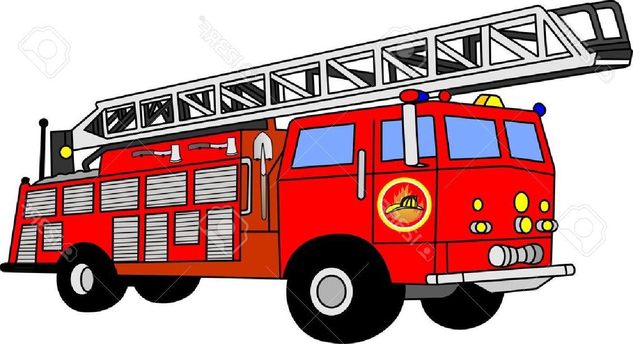 Vector firetruck clipart