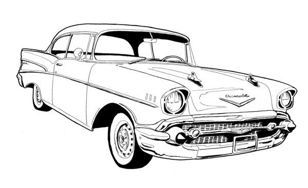 1956 chevrolet clipart free svg library library 57 Chevy Bel Air Drawing | Chevy\'s 55-57 | 57 chevy bel air, Chevy ... svg library library