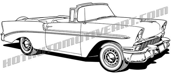1956 chevrolet clipart free graphic transparent download 1956 Classic Convertible - JPEG - VALUE IMAGE - $10.00 graphic transparent download