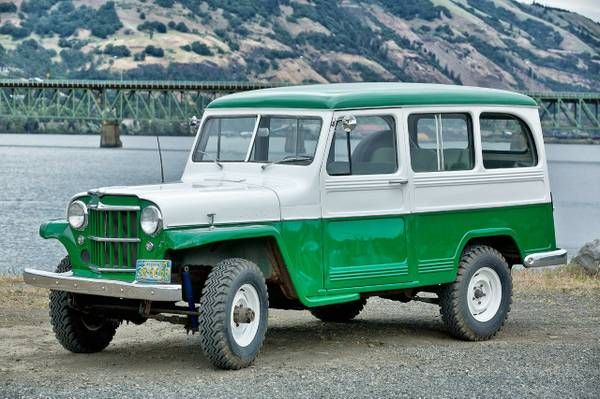 1956 jeep station wagon clipart vector black and white library 1958-wagon-columbiagorge-or | Willys Jeep | Willys wagon, Jeep ... vector black and white library