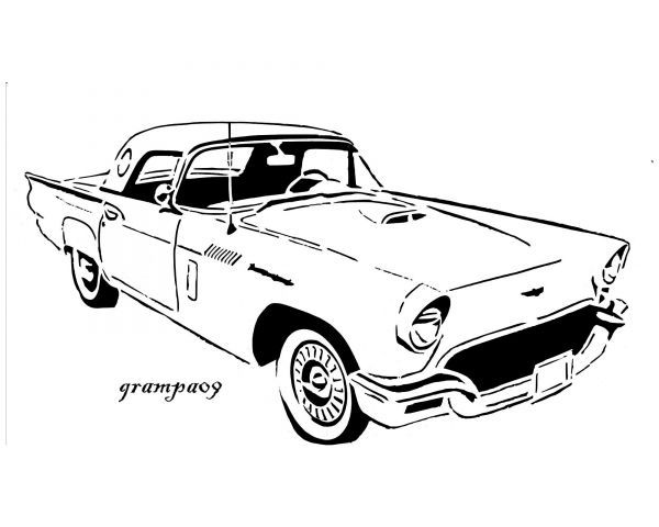 1956 t-bird clipart clip art royalty free stock 1957 Ford Thunderbird | Scroll saw plans n art | Ford thunderbird ... clip art royalty free stock