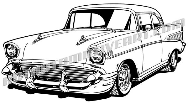 What happen in 1957 clipart clipart library stock 1957 Classic Custom Coupe - VECTOR clipart library stock