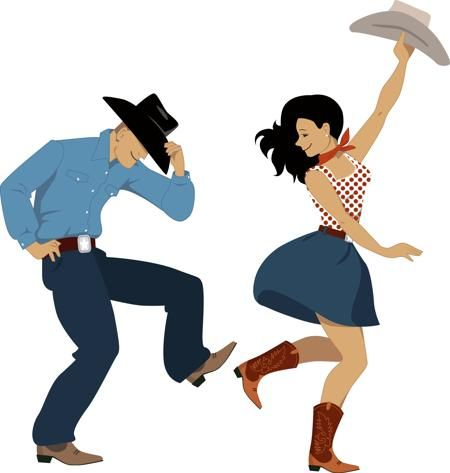 Clipart country dance