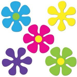1960 1970s clipart image Mini Retro Flower Cutouts - 60\'s Hippie Party Decorations | My Style ... image