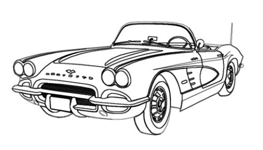 1960 car clipart free banner royalty free library How to draw cars easy. | Old cars & trucks | Car drawings, Drawings ... banner royalty free library