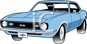 1960 car clipart free jpg freeuse A 1960\'s Muscle Car - Royalty Free Clipart Picture jpg freeuse