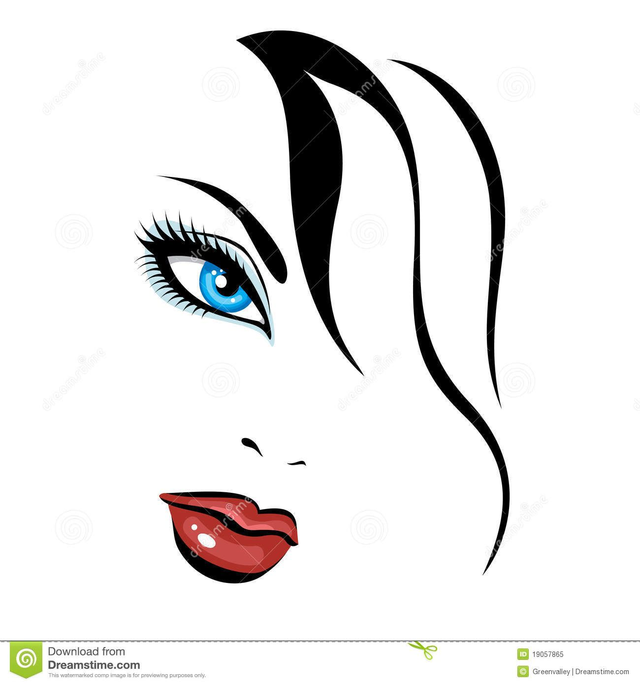 Beauty girl clipart
