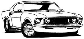 Ford mustang clipart black and white picture transparent download Pin by Brad Duckworth on Automotive Art | Car drawings, Cars ... picture transparent download