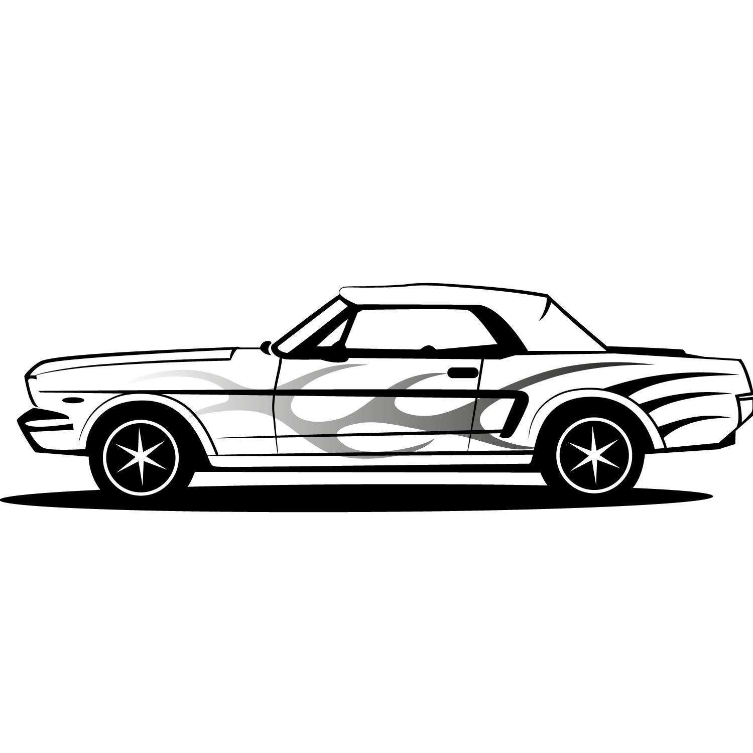 Black and white fast mastang car clipart jpg stock Mustang Car Clipart | Free download best Mustang Car Clipart on ... jpg stock