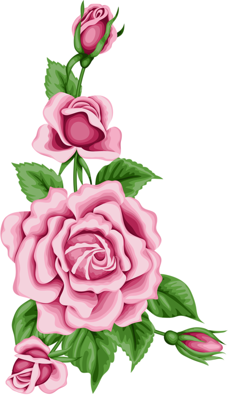 Flower painting clipart graphic freeuse stock Vintage flower card with colorful roses.png | Pinterest | Flower ... graphic freeuse stock