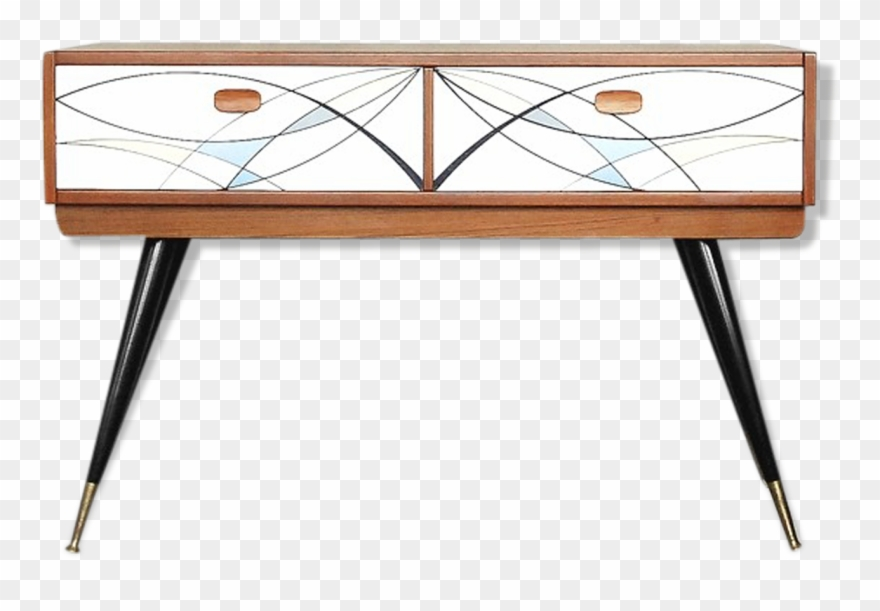 1960s office clipart graphic black and white M#century Scandinavian Modern Teak Console Table 1960s Clipart ... graphic black and white