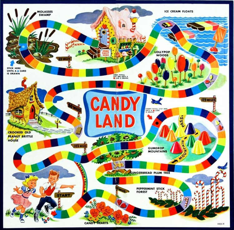Vintage game board clipart clip art freeuse library Look back at Candy Land, the vintage board game that made millions ... clip art freeuse library