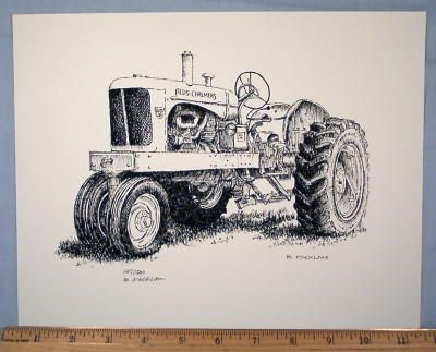 1965 allis chalmers tractor clipart picture freeuse download Allis Chalmers WD-45 Farm Tractor ~ Signed Print | allis chalmers ... picture freeuse download