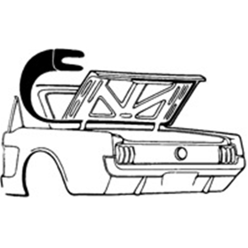 1965 ford falcon profile clipart png free stock 1961 Ford Falcon WEATHERSTRIP TRUNK 1965-70 FORD MUSTANG 1967-70 ... png free stock