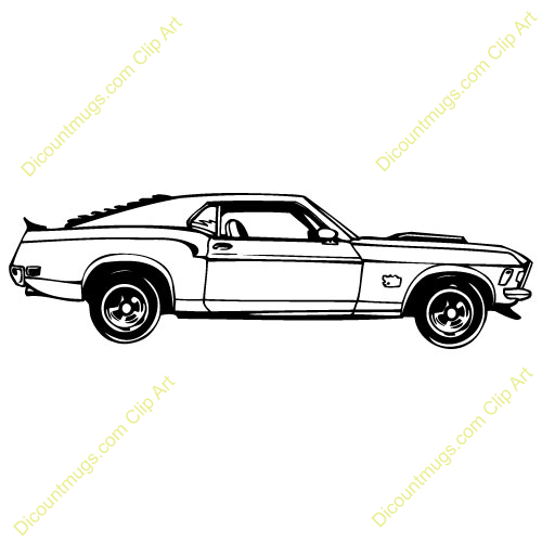1965 red mustang hatchback clipart black and white download Fox Body Mustang Drawing | Free download best Fox Body Mustang ... black and white download