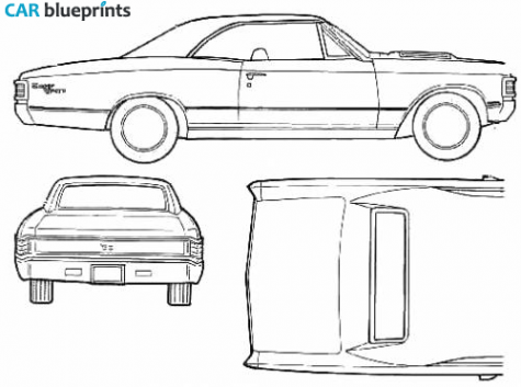 1967 chevelle clipart clip library stock 1967 Chevrolet Chevelle SS396 Coupe blueprint   Cakes - Vehicles ... clip library stock