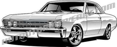 1967 chevelle clipart image transparent 1967 Muscle Car Custom -JPEG image transparent