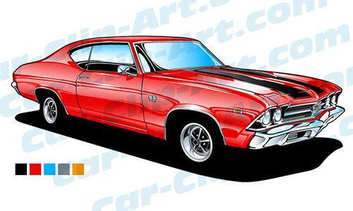1967 chevelle clipart clip transparent 69 Chevelle SS 396 Vector Clip Art   Car-Clip-Art.com Designs!   69 ... clip transparent
