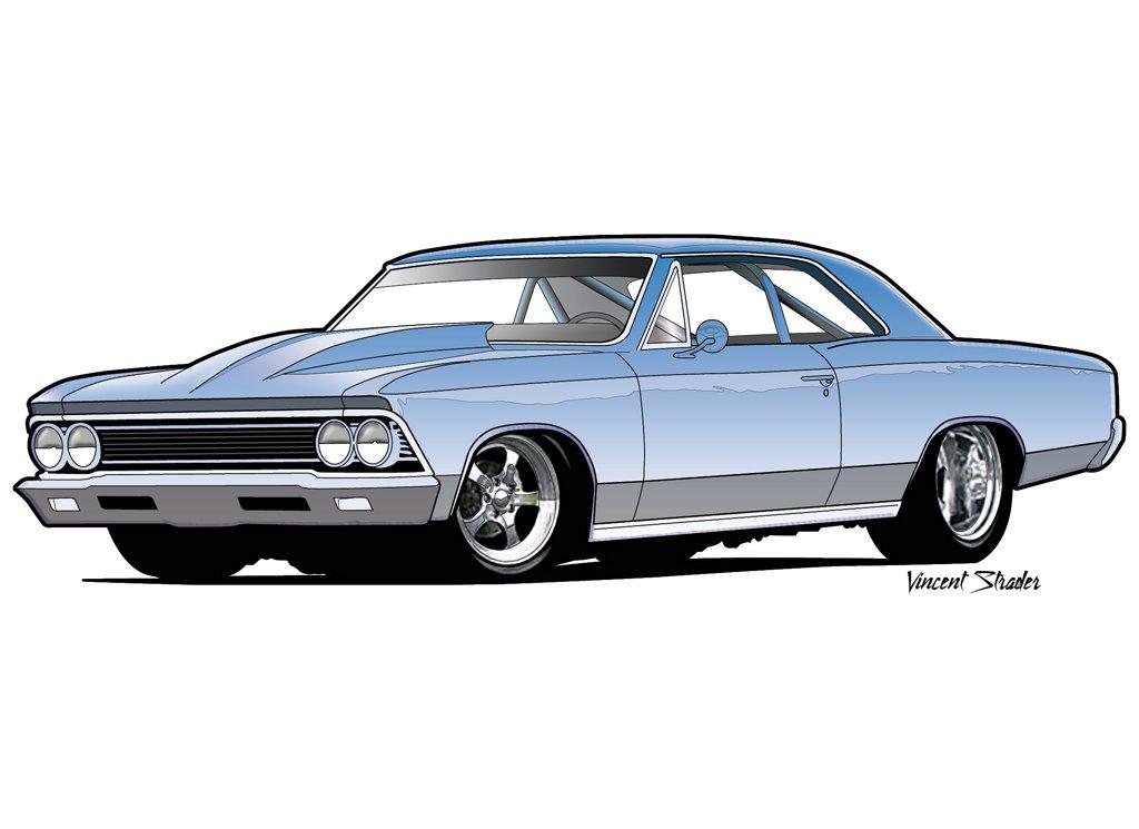 1967 chevelle clipart vector freeuse stock 66 Chevelle Drawing   Allowistic Artist vector freeuse stock