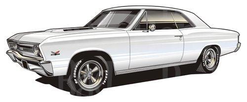 1967 chevelle clipart
