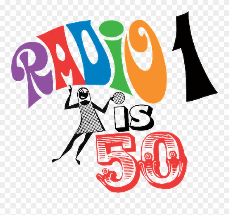 Bbc radio 1 logo clipart graphic Free Png Download 50am On Saturday, 30 September, 1967, - Bbc Radio ... graphic