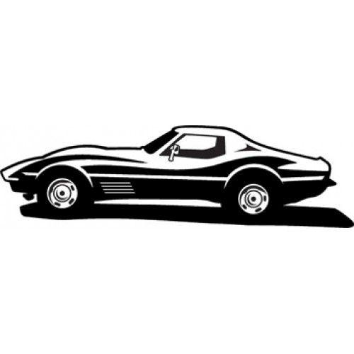 Vintage corevette clipart png black and white download Corvette Clipart Black | Self logo | Clip art, Clipart images, Corvette png black and white download