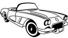 Vintage corevette clipart clip art royalty free download corvette clipart black and white - Google Search | PAPILLION TIRE ... clip art royalty free download