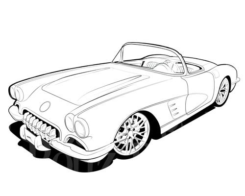 Vintage corevette clipart clipart royalty free Free Corvette Cliparts, Download Free Clip Art, Free Clip Art on ... clipart royalty free