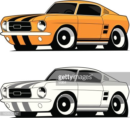 1967 mustang fastback clipart clip transparent library Mustang Fastback 1967 premium clipart - ClipartLogo.com clip transparent library