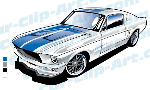 1967 mustang fastback clipart