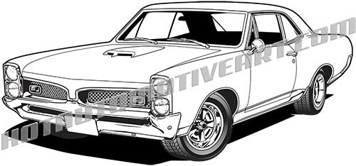 Guanajuato clipart svg free library 1967 GTO Muscle Car - VECTOR svg free library