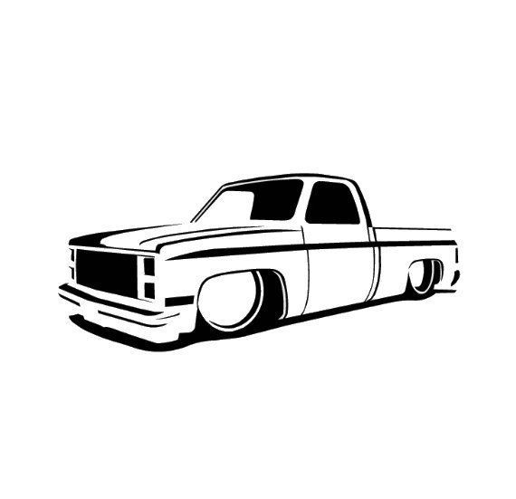 1970 chevy truck clipart jpg royalty free download 73-87 Chevy Truck Slammed, Lowrider, Dropped, C10 Decal (#022 ... jpg royalty free download