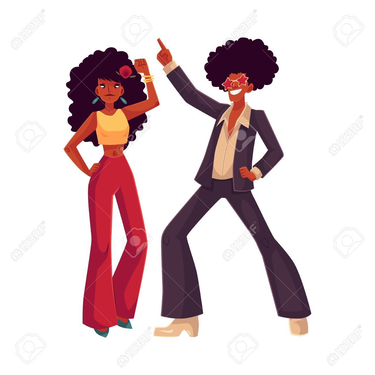 1970 s clipart image library library Image result for 70s african american clipart | misc | Cartoon ... image library library