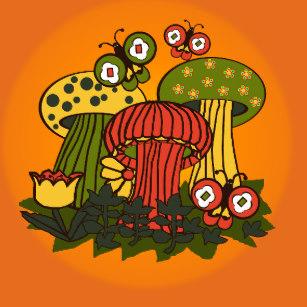 1970s clipart mushrooms