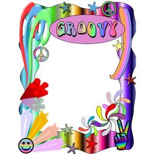 60s clipart frame jpg transparent Groovey Border clipart, cliparts of Groovey Border free download ... jpg transparent