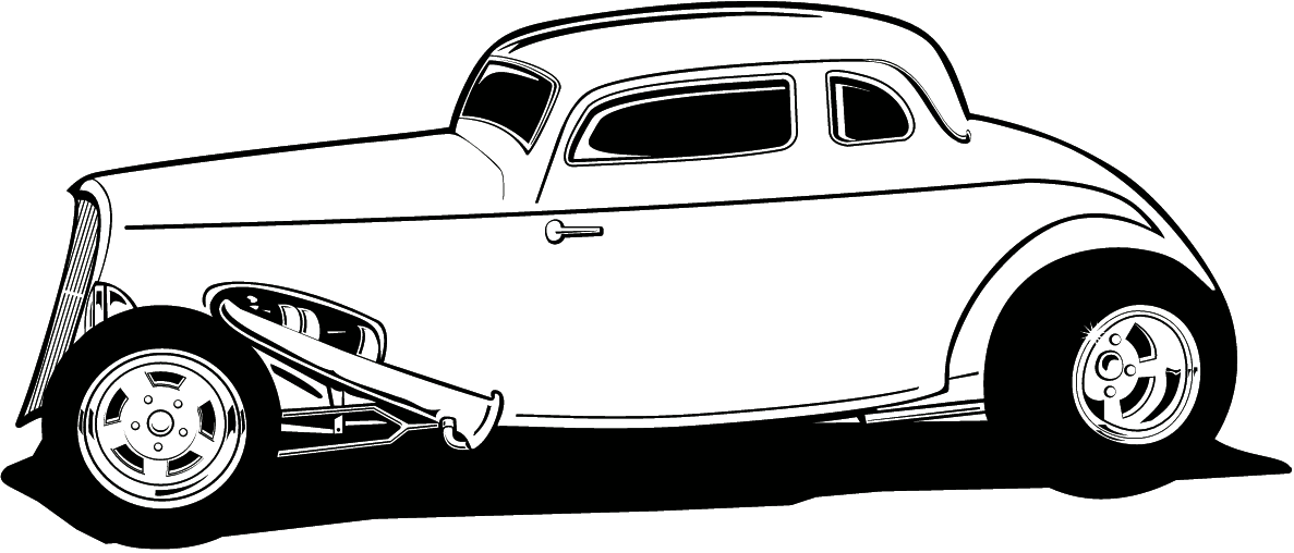 1971 chevy hot rod clipart black and white image Hot Rod Clip Art Free | coloring book | Cartoon drawings, Hot rods ... image