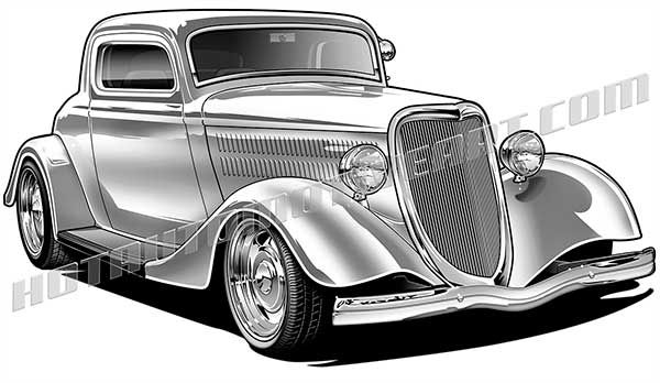 1971 chevy hot rod clipart black and white banner royalty free stock 34 Ford hot rod artwork | Hot Rod Artwork | 1932 ford coupe, Antique ... banner royalty free stock