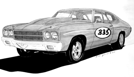 1971 chevy hot rod clipart black and white vector royalty free Page 9 - CUSTOM CAR, HOT ROD, DRAG RACING ART PRINTS BY RICK WILSON vector royalty free