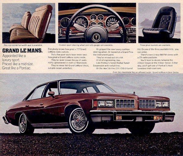 1977 grand marquis clipart svg black and white download 1977 Pontiac Grand LeMans 4-Door Sedan   Pontiac: 1975 - 1984 ... svg black and white download