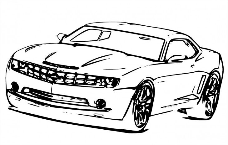 Clipart camaro vector black and white library camero Clip Art | Coloriage Bumblebee Transformers Chevrolet Camaro ... vector black and white library