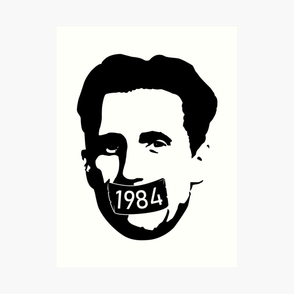 1984 george orwell clipart clip art transparent library George Orwell [1984] - Censorship Tape   Art Print clip art transparent library