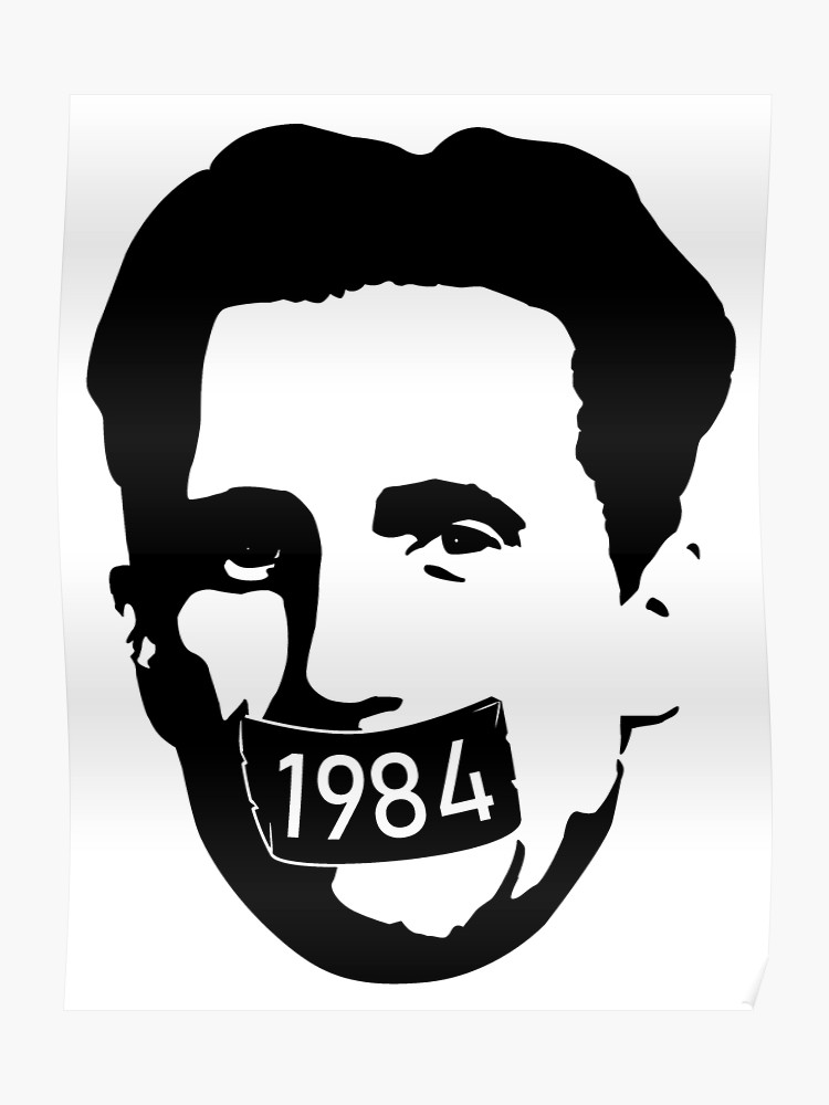 1984 george orwell clipart image transparent stock George Orwell [1984] - Censorship Tape   Poster image transparent stock