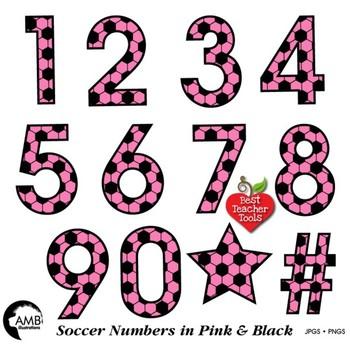 1989 clipart vector Soccer Clipart, Pink Numbers Clipart, Sports Team, {Best Teacher Tools}  AMB-1989 vector