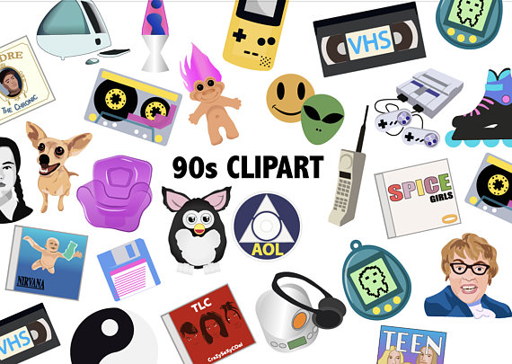 90s clipart free picture royalty free download 90\'S CLIPART - Retro 90\'s toys icons, Printable party decor, 90s ... picture royalty free download